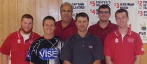 Congratulations to Matt Paine on winning his 2nd CBA title at the July tournament at Texa Tonka Lanes...Pictured left to right...Champion Matt Paine - Joey Robillard - Chad Nelson - Texa Tonka Lanes Proprietor Jeff Kristal - Tim O'Ryan - Jarid Sundin